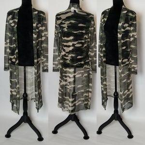 Camouflage Midi Cardigan